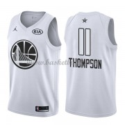 Golden State Warriors Klay Thompson 11# Vit 2018 All Star Game NBA Basketlinne..